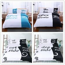 3D Her And His Side Bedding Set Comforter Duvet Cover Quilt Cover Pillowcases