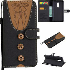 Xiaomi Redmi Note 4X 4 Canvas Card Solt PU Leather Wallet Flip Stand Cover Case