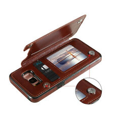 Card Slot Case For Samsung Galaxy S9 S8 Plus Stander Phone Holder Leather Cover