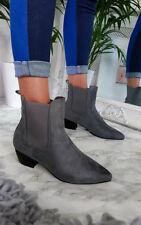 IKRUSH Womens Laura Faux Suede Ankle Boots