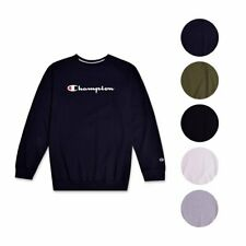 Champion Mens Big and Tall Crewneck Pullover French Terry Sweatshirt Script