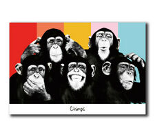 T-843 Art Poster The Chimps Funny Monkey Face Hot Silk 24x36 27x40IN
