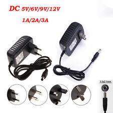DC 5/6/9/12V 1/2/3A AC Adapter Charger Power Supply Converter Cord Cable FT