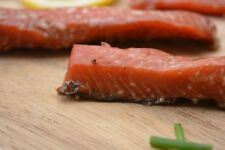 Wild Caught Double Smoked Salmon Strips Canadian Sockeye Made in BC Canada