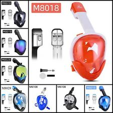 Full Face Snorkeling Mask Set Swimming Scuba Diving Mask Tool For Go-pro Camera