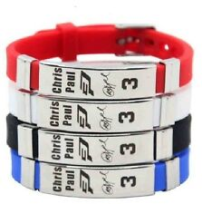 Chris Paul Basketball Bracelet Silicone Stainless Steel adjustable Wristband