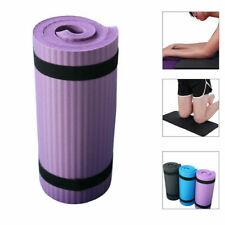 15mm Thick Non-Slip Yoga Mat Exercise Fitness Pilates Camping Gym Meditation Pad