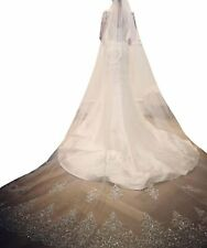 Wedding Veils Cathedral Bridal Accessories Comb Appliques White Ivory Bride Veil