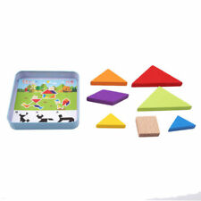 Creative Wooden Tangram Brain Teaser T Puzzle Toy Kid Intelligent Training Toys