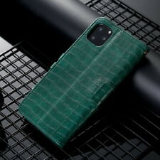 For iPhone 11 Pro Max XS XR X 8 7 6S Crocodile Pattern Leather Stand Case Cover