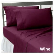 Comfort Duvet Collection 100% Cotton 1000 TC Select US Size Wine Solid