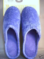 Royal Blue Velveteen Isotoner Slip On Slippers Ladies