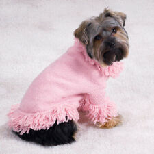Dog Stretch Knit Sweater Jacket Clothes PINK BLOSSOM