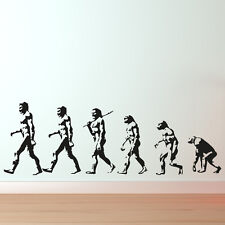DARWINS EVOLUTION OF MAN WALL ART STICKER DECALS