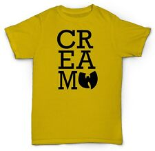 CREAM WU-TANG T-SHIRT CLAN PROTECT RZA GZA HIP-HOP