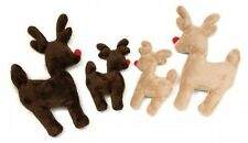 West Paw Ruff N Tuff Reindeer Holiday Plush Dog Toy
