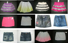 NEW Gap kid girl denim jean mini skirt embroidered sequin tulle holiday 8 10 M/L