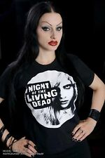 NIGHT OF THE LIVING DEAD shirt FACE ZOMBIE HORROR MOVIE