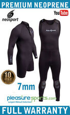 Mens 7mm 2 piece Combo Wetsuit NeoSport Scuba Diving WARRANTY Premium Neoprene