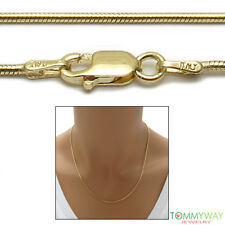 14K Gold over Sterling Silver SNAKE chain necklace