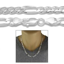 Sterling Silver FIGARO LINK chain necklace 7mm 180