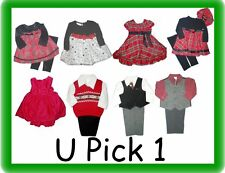 DRESS UP 2 3 4 PIECE OUTFITS BOYS GIRLS SUIT XMAS CHILDRENS HOLIDAY CLOTHES KIDS