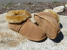 Men's Australian Sheepskin Slippers - Soft Leather Sole Size 8 9 10 11 12 13 14