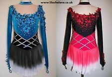 Ice Figure Skating Dress/Baton Twirling outfit/Dance Tap costume MADE TO FIT