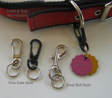 DOG TAG CLIP Removable ID Holder for Collar it Silencer