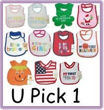 HOLIDAY EVERYDAY BABY BIB BOYS GIRLS NWT FEEDING INFANT
