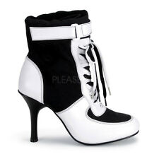 Sexy Women's Referee Sports Halloween Costume Ankle Boots REF125/BW