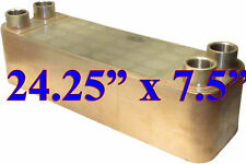 "B3-95A 24.3""x7.5"" 60 Plate Stainless Steel Heat Exchanger Copper Brazed Coolant"