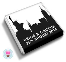 50 Personalised NEW YORK Wedding Favour Chocolates (Little Pink Wishes)
