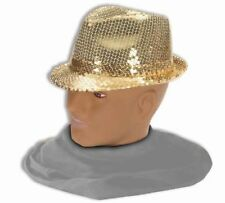 Sequin Jazz Fedora Top Hat Glitter Gangster Adult Dancer Costume Accessory NEW
