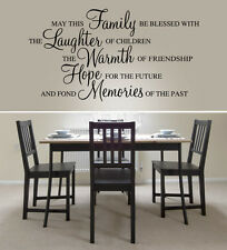 May this family be blessed - Wall Art Quote Decal Sticker