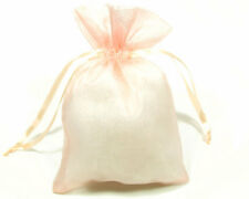 4x6 Coral Peach Pink Organza Jewelry Pouch Sheer Wedding Favor Gift Bag 10x15cm