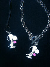 Snoopy I give My Heart cell phone charm or Bracelet or Key chain Charm New