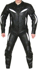 """""""DEVASTATION"""" Leather Motorcycle Racing Suit -All sizes"""