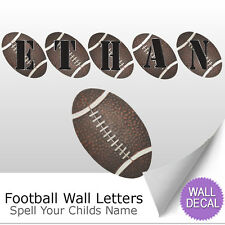 Wall Letter Alphabet Initial Sticker Vinyl Stickers Decals Name Sports Football