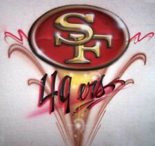 Airbrushed S.F.49 ers Football T Shirt Airbrush Any Team Logo Superbowl XLVI