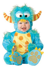 Blue Monster Outfit Plush Infant Baby Halloween Costume