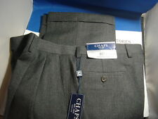 NWT$100 CHAPS 100% WOOL Mens 2 PLEAT  DRESS PANTS , GREY