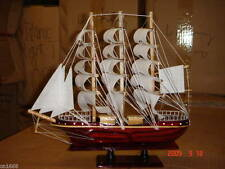 HAND MADE WOODEN MODEL SAILING SHIP