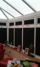 EZ Fit Pleated Blinds. No Drilling no screws. Ideal for conservatory.