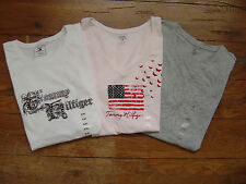 NEW Authentic TOMMY HILFIGER Womens SS Top Shirt Graphic  Embellished Tee