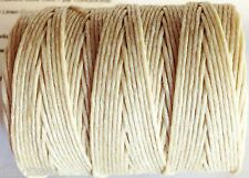 NATURAL Waxed Irish Linen Crawford Bead Cord 3 ply  .7mm  5 - 110 yards