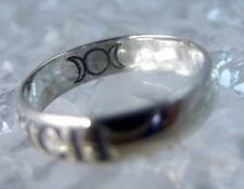 Witch Triple moon Goddess Celtic Real Sterling silver ring Jewelry pick any size