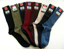 Mens quality loose fit wool rich ribbed socks, size 6-11, 8 colourways