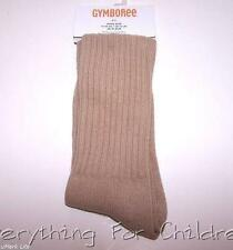 Boys GYMBOREE socks NWT khaki tan solid basic ribbed 2T-3T 3-4 5-7 8 & up 10