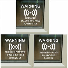 Alarm System Monitored Warning Security Stickers - Home/Premises/Business Signs